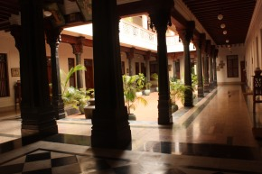 teak pillars at visalam
