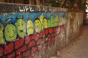 graffiti in bandra villages