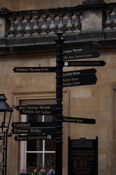 jane austen on the signposts!