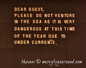 do not venture into the sea