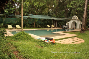 the pool by the garden!