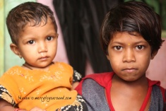 sapna and her sibling, another girl... they are three girls here and no boys. hope that doesn't become an issue for sapna's mother!