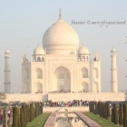sitting beautiful and snug: taj mahal