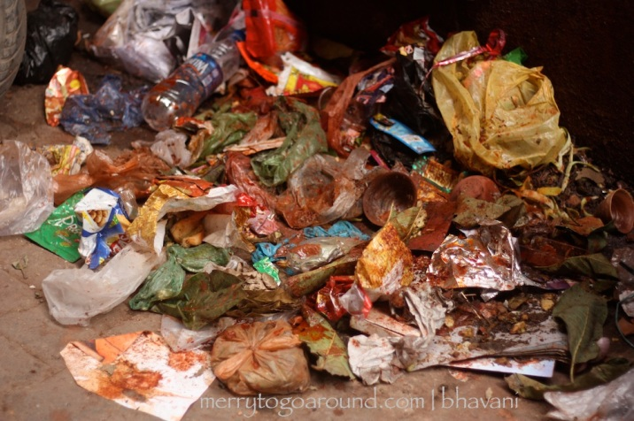 garbage lies in heaps at every corner