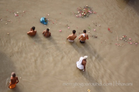 everything gets dumped into the revered Ganga