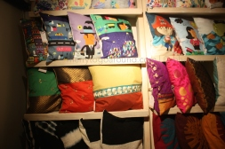 the rack of cushion covers