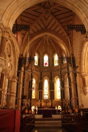 High vaulted ceiling
