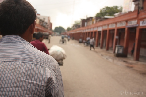 A view of the bazaar from over my guide's shoulders.