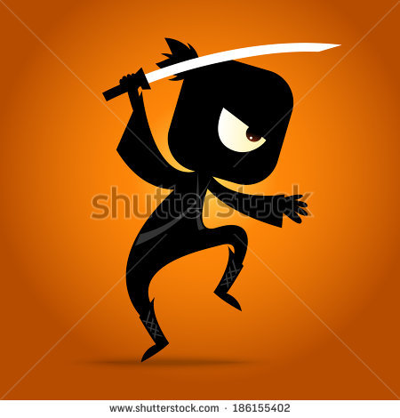 stock-vector-japanese-ninja-figure-in-action-186155402