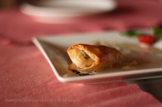 Filo Pastry with a spinach filling! Light, crisp and melted in the mouth.