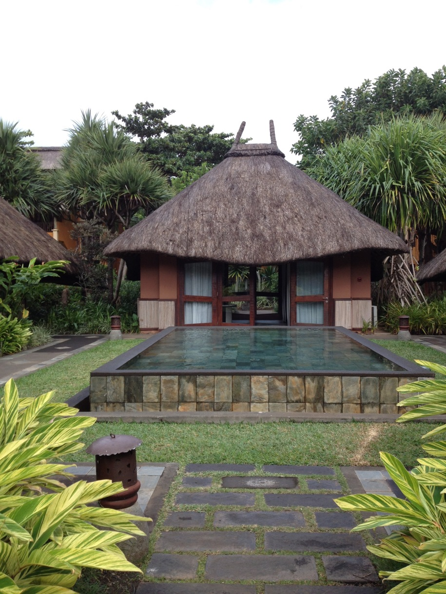 the huts that house the therapy rooms.