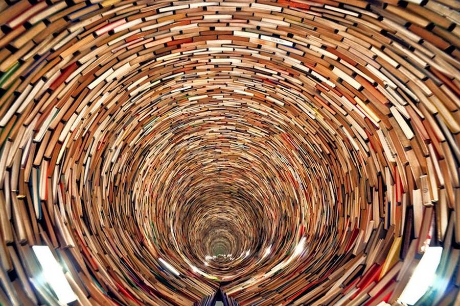 books, tunnel