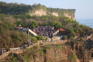 the open air auditorium for the traditional dance performance.