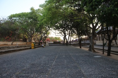 the large avenue leading to the temple complex...