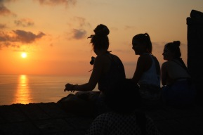 silhouettes by the cliff...